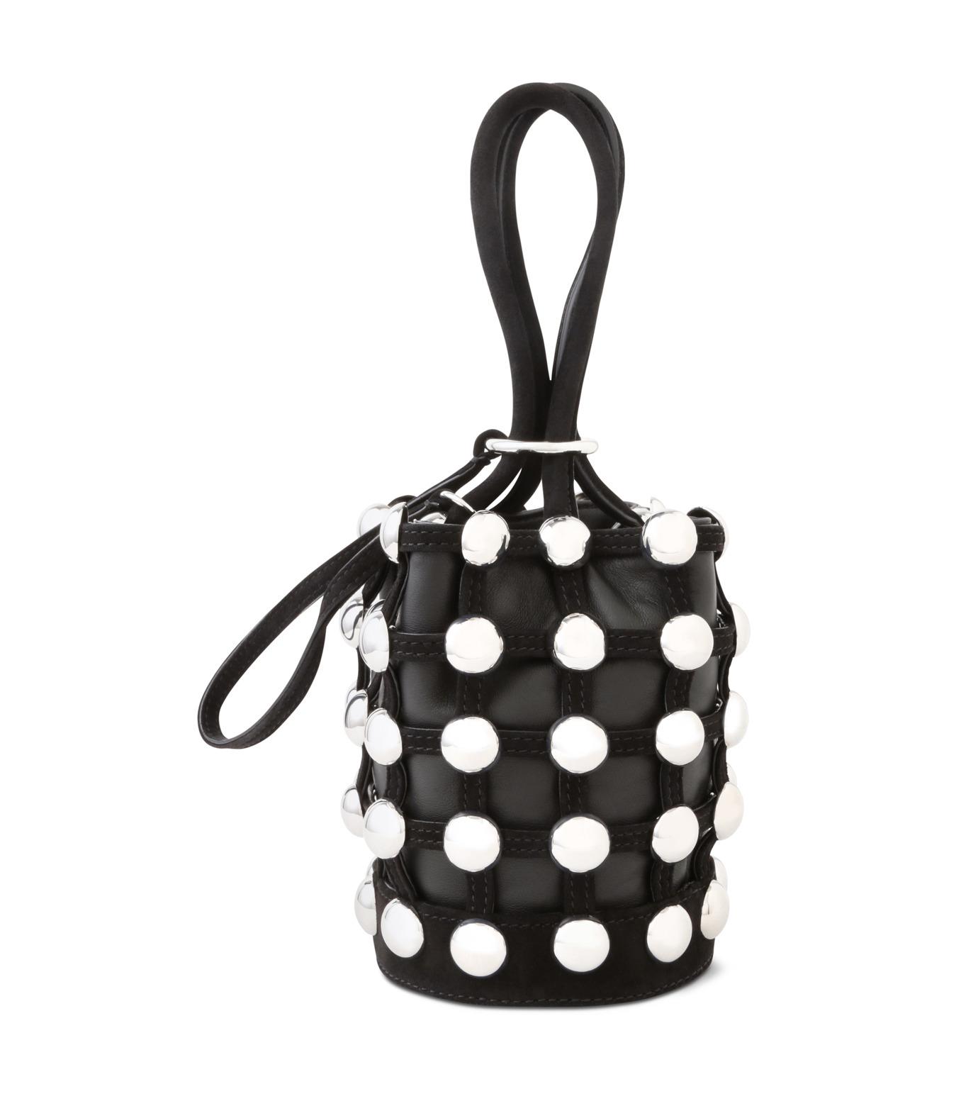 Alexander Wang(アレキサンダーワン)のRoxi Mini Bucket w/Studs-BLACK(ハンドバッグ/hand bag)-20C0038-13 拡大詳細画像1