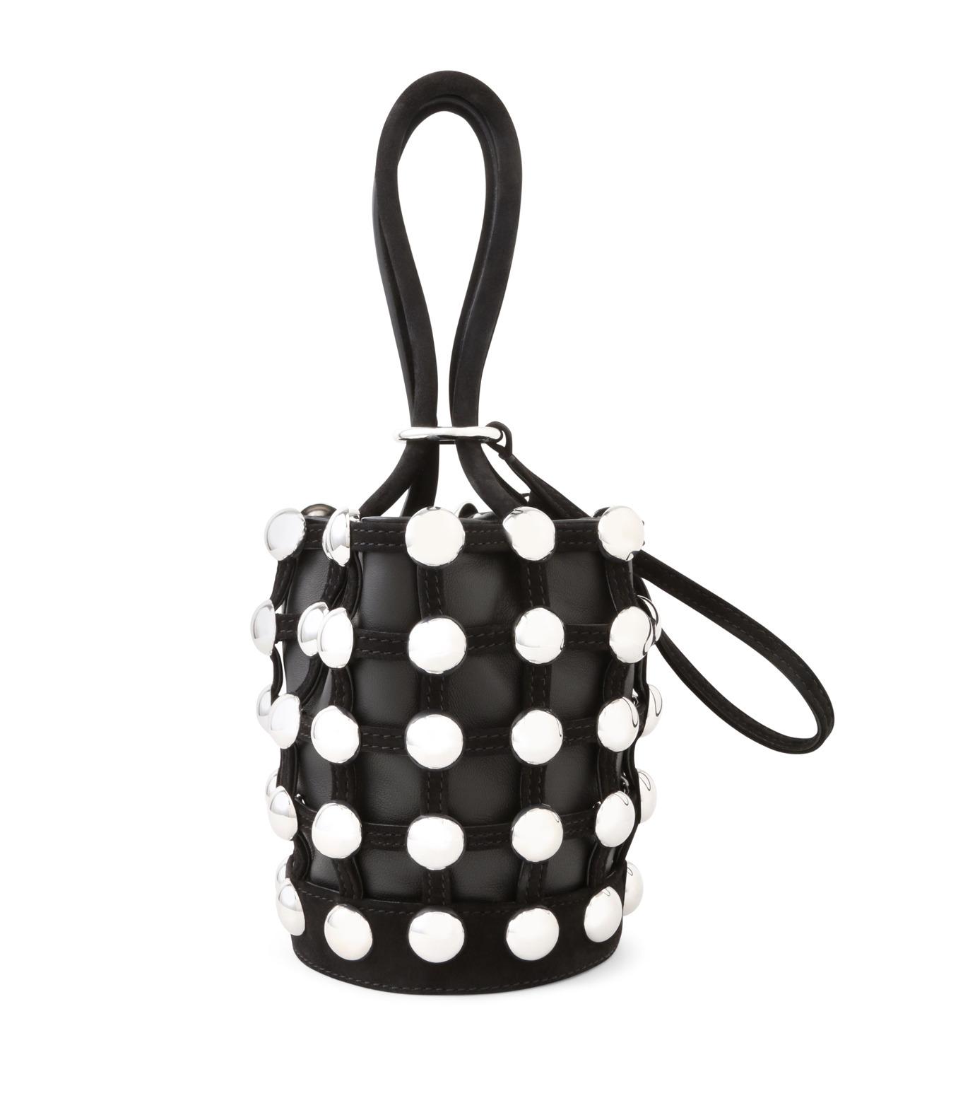 Alexander Wang(アレキサンダーワン)のRoxi Mini Bucket w/Studs-BLACK(ハンドバッグ/hand bag)-20C0038-13 拡大詳細画像3