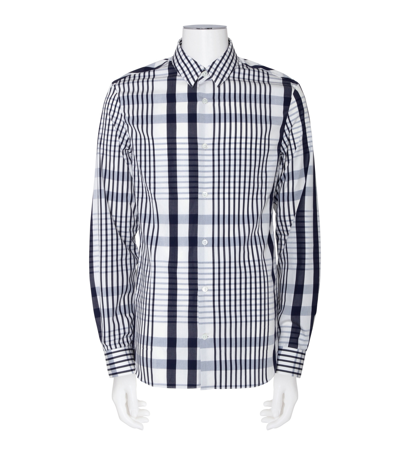 ACNE STUDIOS(アクネ ストゥディオズ)のCheck Shirt-NAVY(シャツ/shirt)-21K163-93 拡大詳細画像1