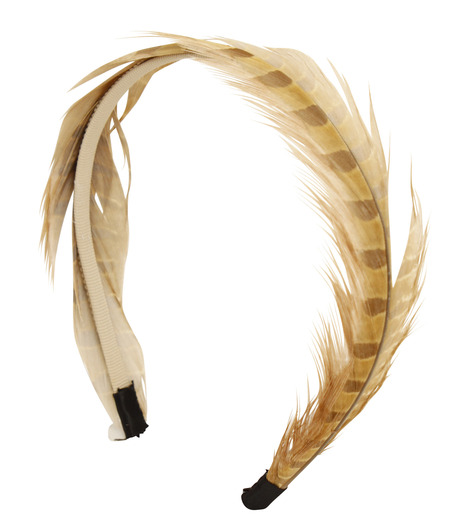 LE CIEL BLEU(ルシェルブルー)のFeather headband / Eugenia Kim-LIGHT BROWN(アクセサリー/accessory)-2323-1459-L 詳細画像2