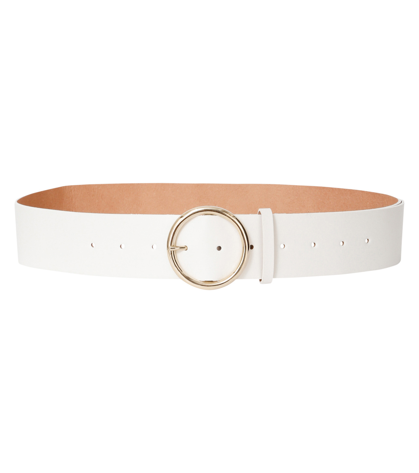 Casselini(キャセリーニ)のRing Buckle Belt-WHITE(ベルト/belt)-24-0413-4 拡大詳細画像1