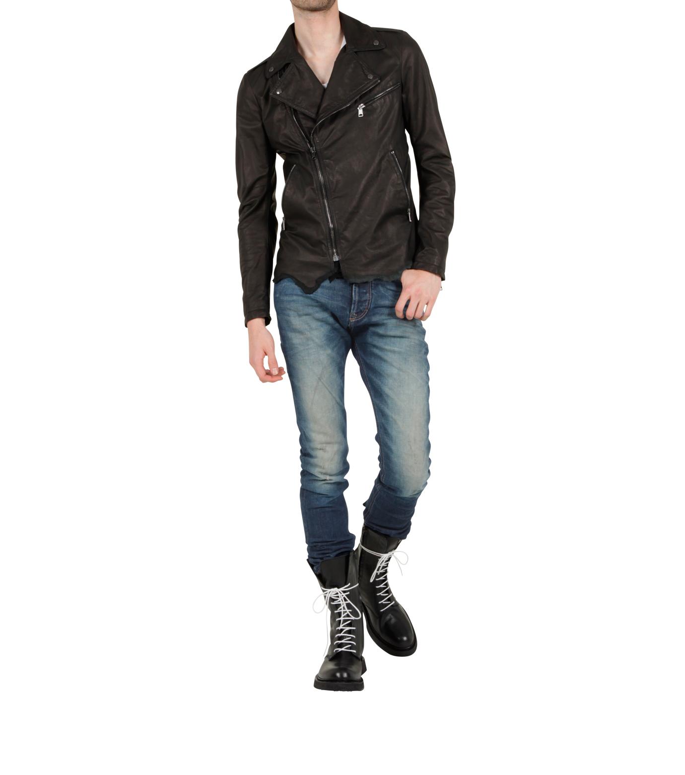 Alexander McQueen(アレキサンダーマックイーン)のCheck Riders-BLACK-261775 拡大詳細画像2