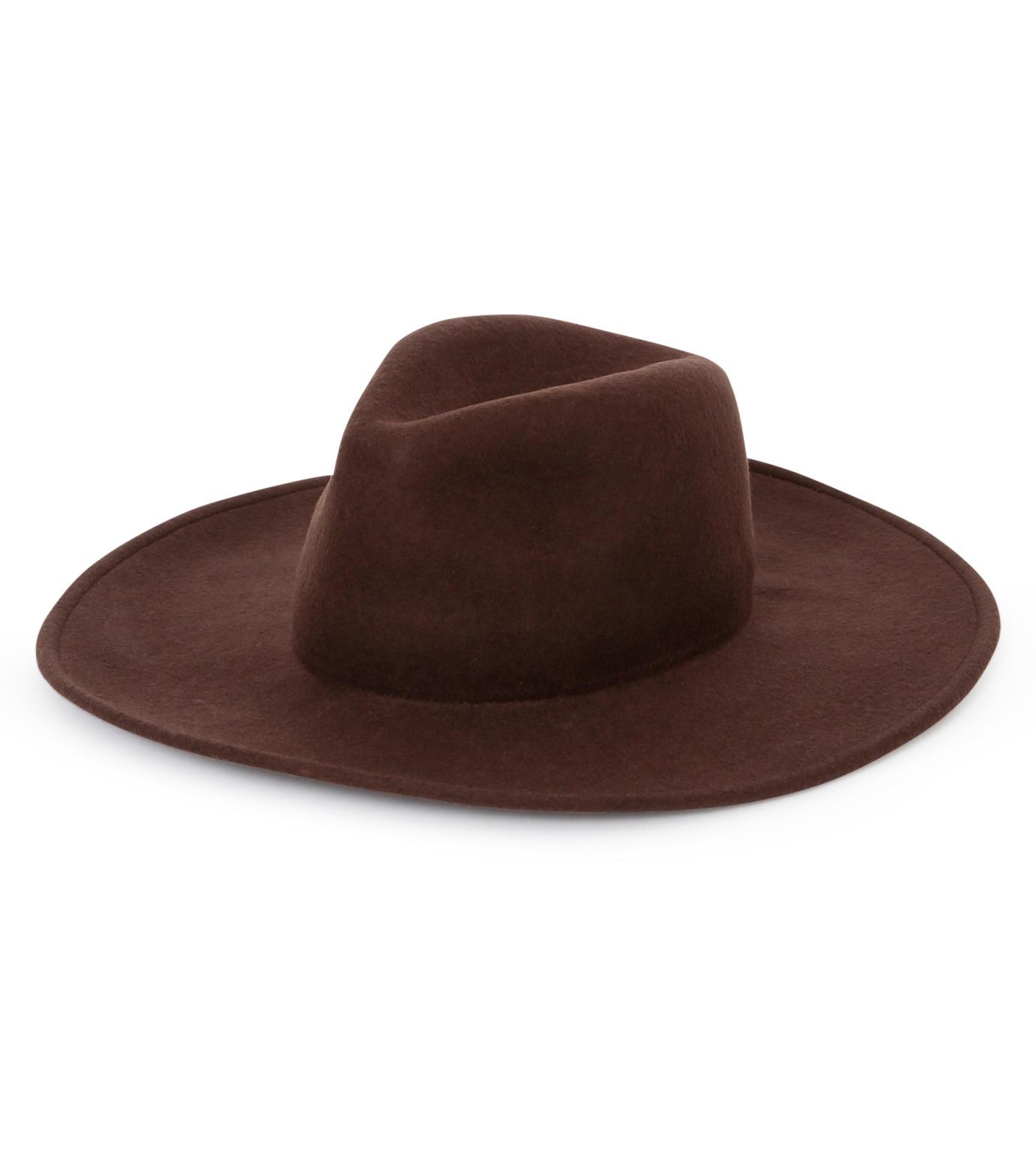 Casselini(キャセリーニ)のWool Hat-BROWN(キャップ/cap)-27-0991-42 拡大詳細画像1