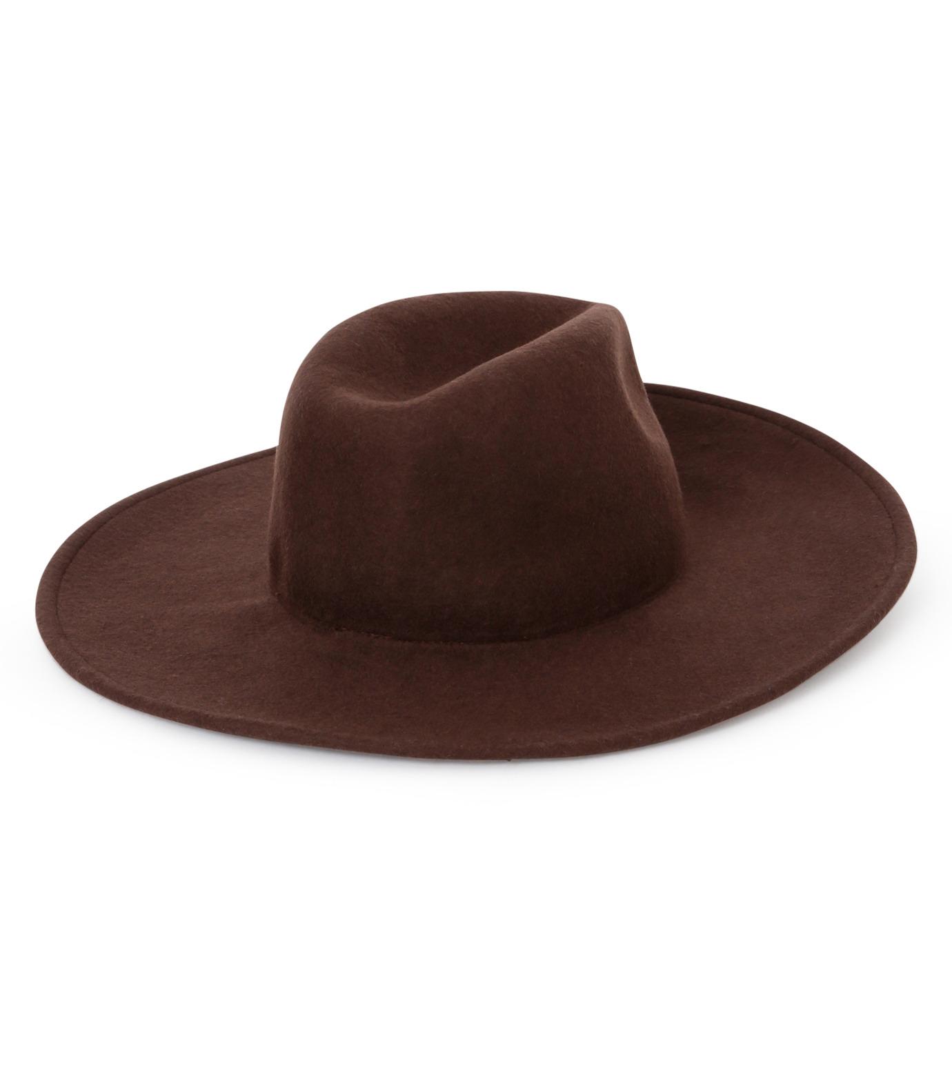 Casselini(キャセリーニ)のWool Hat-BROWN(キャップ/cap)-27-0991-42 拡大詳細画像2
