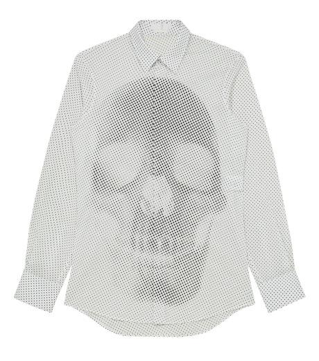 Alexander McQueen(アレキサンダーマックイーン)のSkul dots shirt-WHITE-283024-QW601-4 詳細画像1