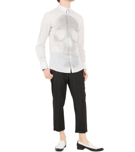 Alexander McQueen(アレキサンダーマックイーン)のSkul dots shirt-WHITE-283024-QW601-4 詳細画像2