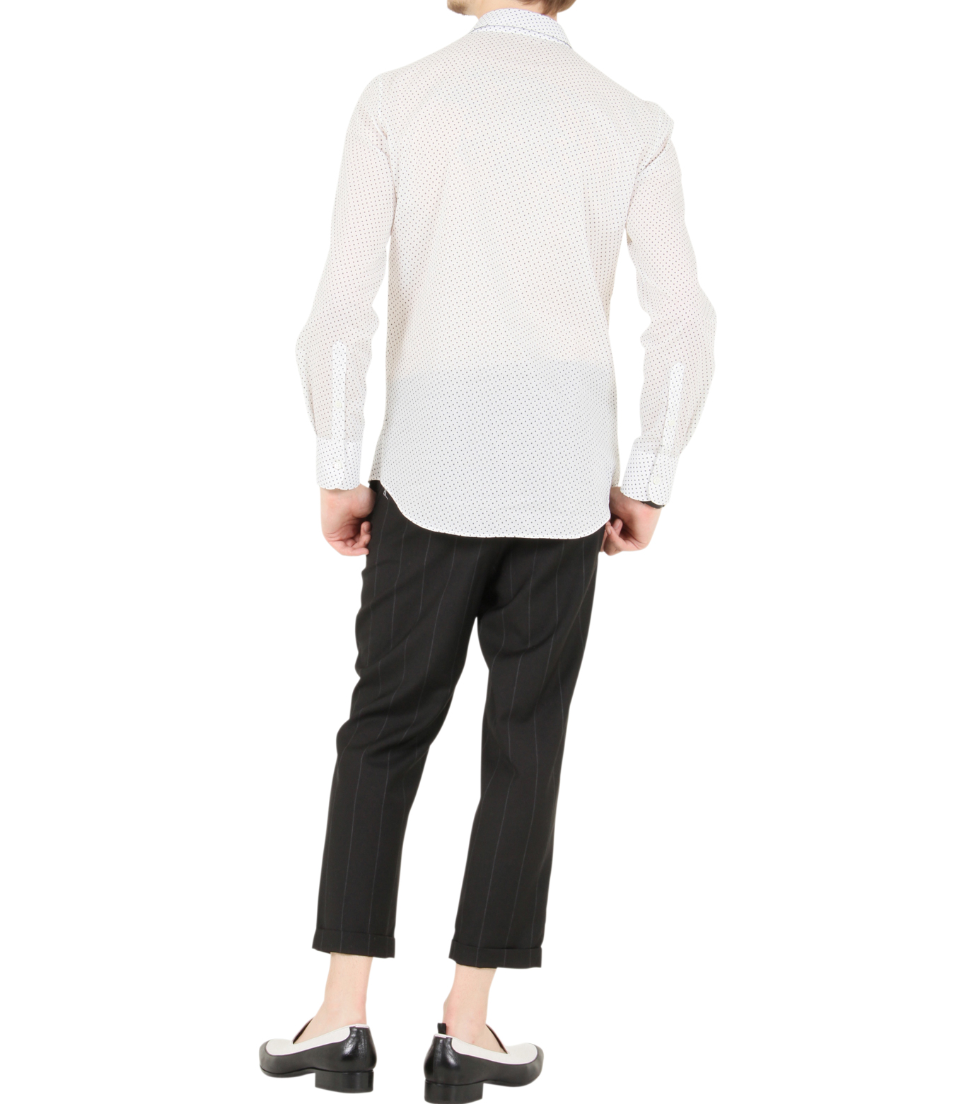Alexander McQueen(アレキサンダーマックイーン)のSkul dots shirt-WHITE-283024-QW601-4 拡大詳細画像3