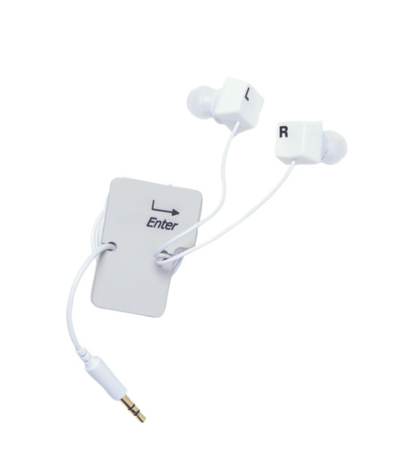 DCI(ディーシーアイ)のEarbud & cord wrp set: keybrd-WHITE(EARPHONE/EARPHONE)-30277-4 詳細画像1