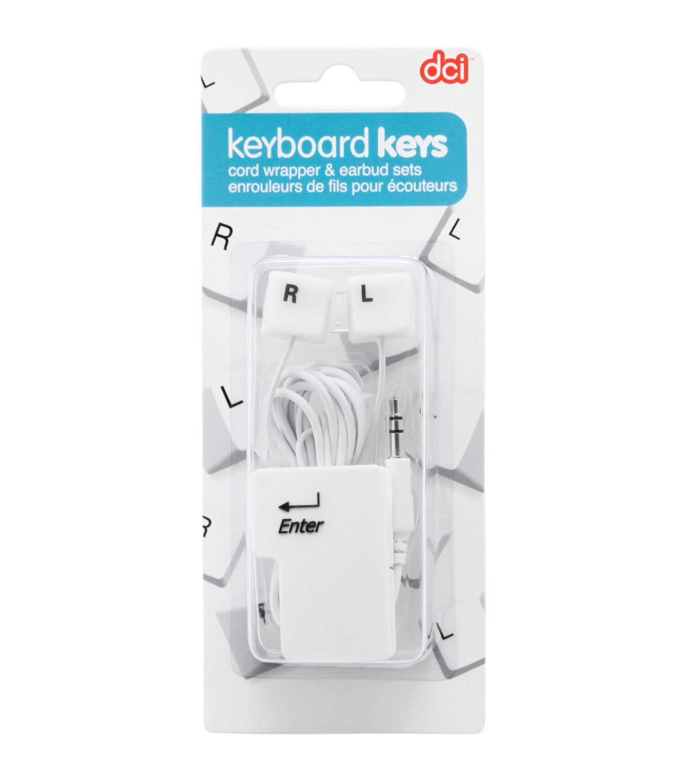 DCI(ディーシーアイ)のEarbud & cord wrp set: keybrd-WHITE(EARPHONE/EARPHONE)-30277-4 拡大詳細画像2