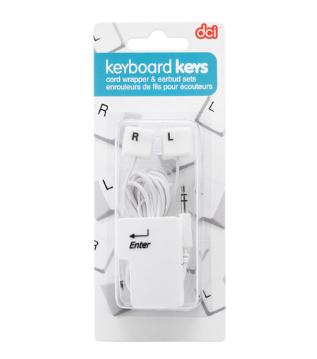 DCI(ディーシーアイ)のEarbud & cord wrp set: keybrd-WHITE(EARPHONE/EARPHONE)-30277-4 詳細画像2