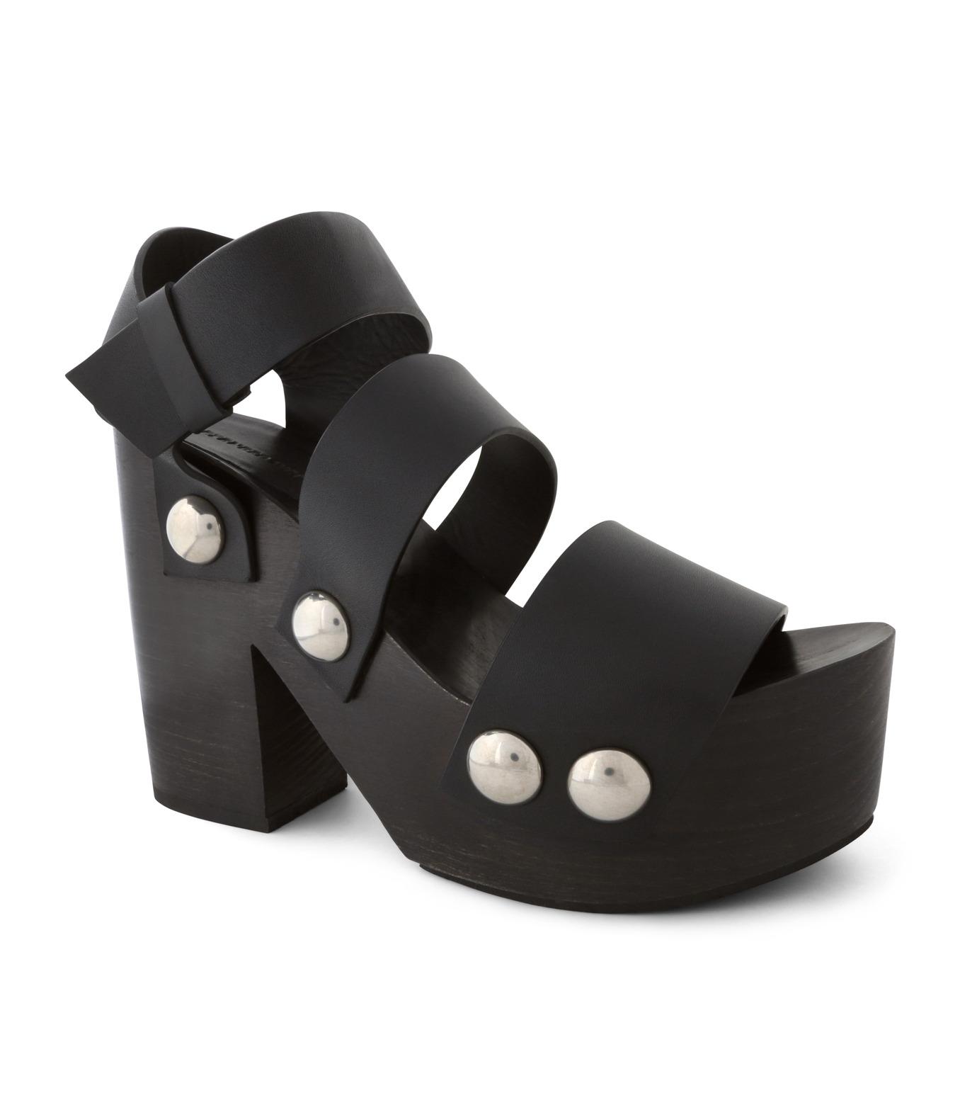Alexander Wang(アレキサンダーワン)のTess Wooden Platform Sandal-BLACK(シューズ/shoes)-304132P16-13 拡大詳細画像1