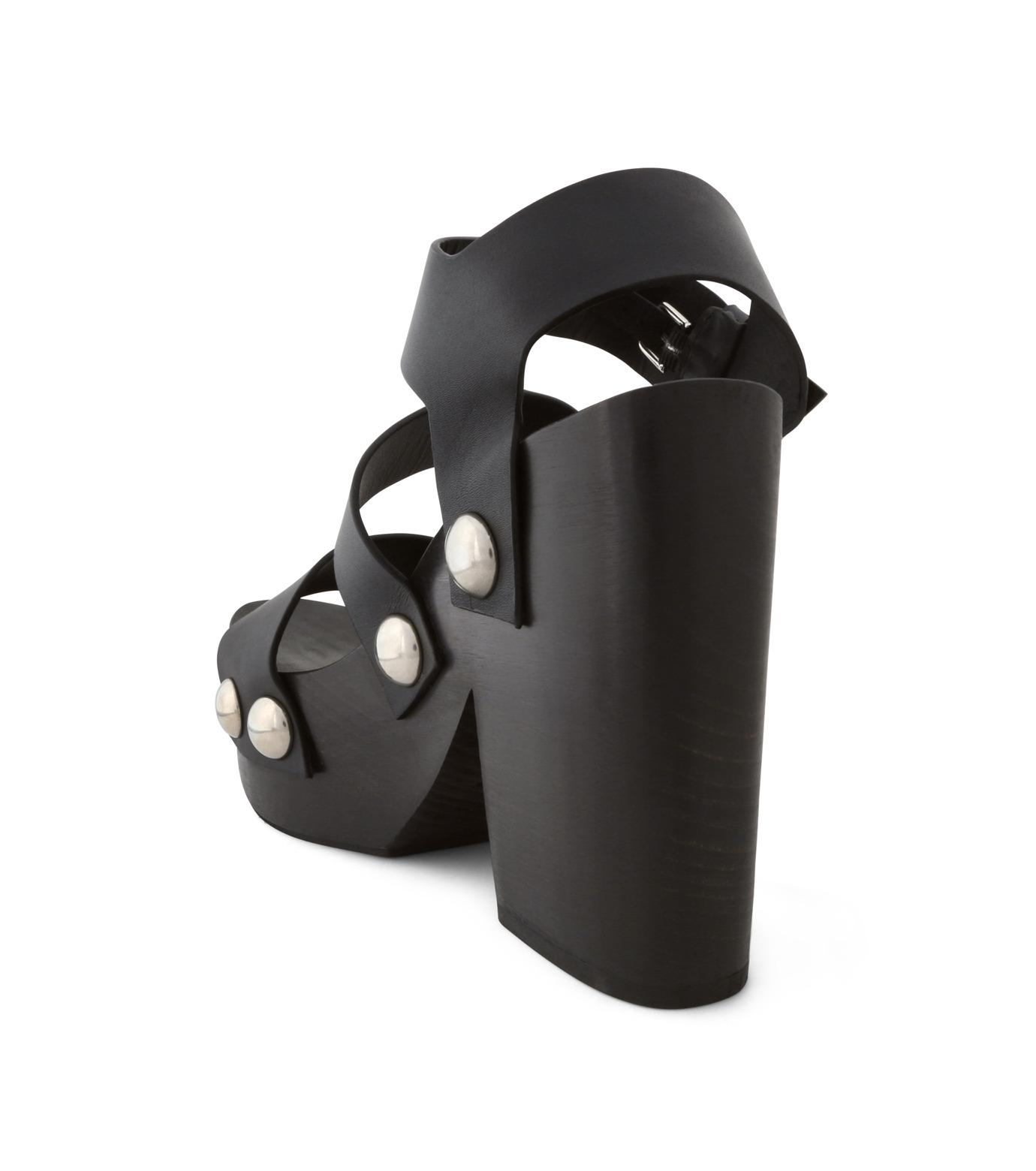 Alexander Wang(アレキサンダーワン)のTess Wooden Platform Sandal-BLACK(シューズ/shoes)-304132P16-13 拡大詳細画像2