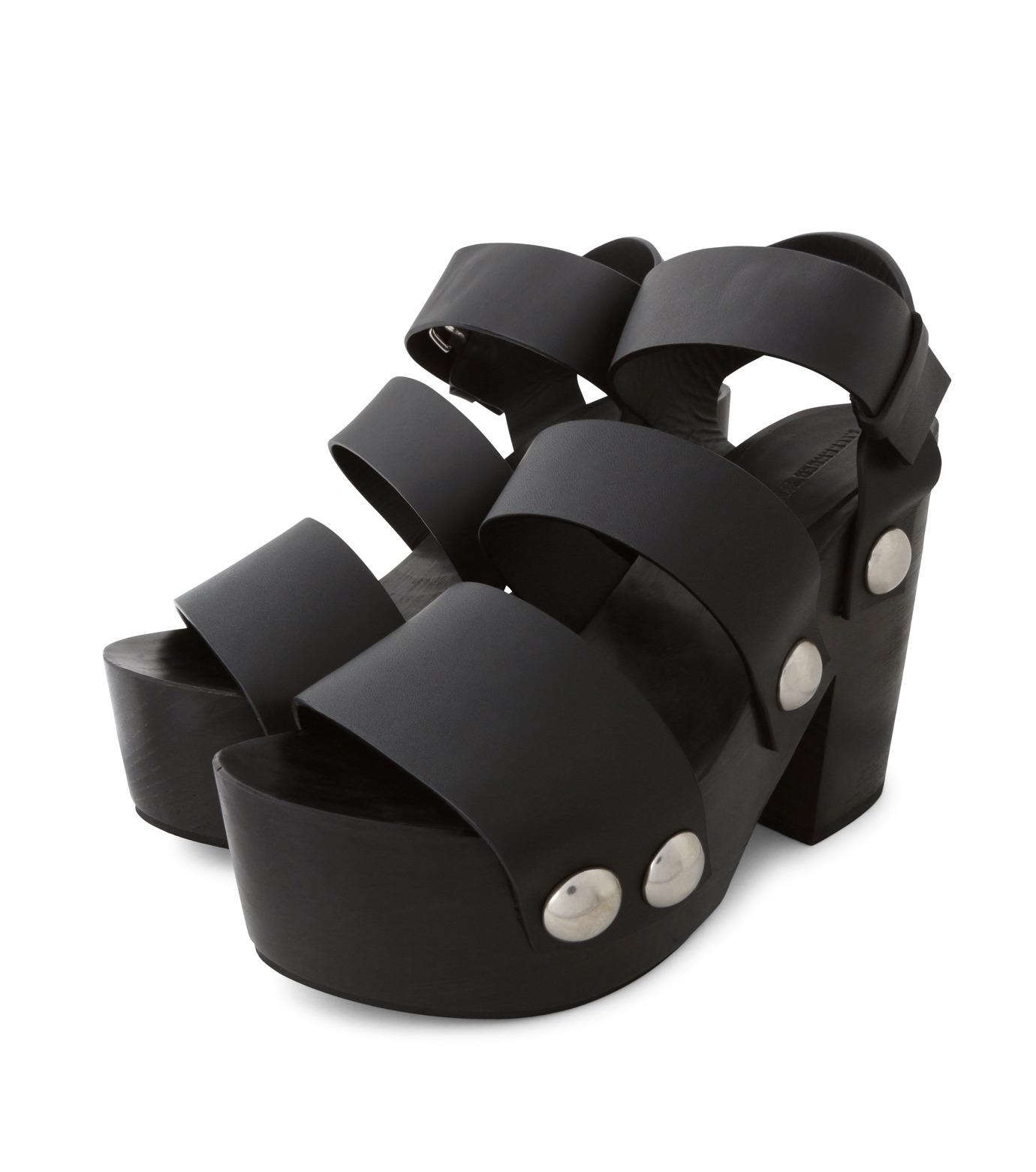 Alexander Wang(アレキサンダーワン)のTess Wooden Platform Sandal-BLACK(シューズ/shoes)-304132P16-13 拡大詳細画像3