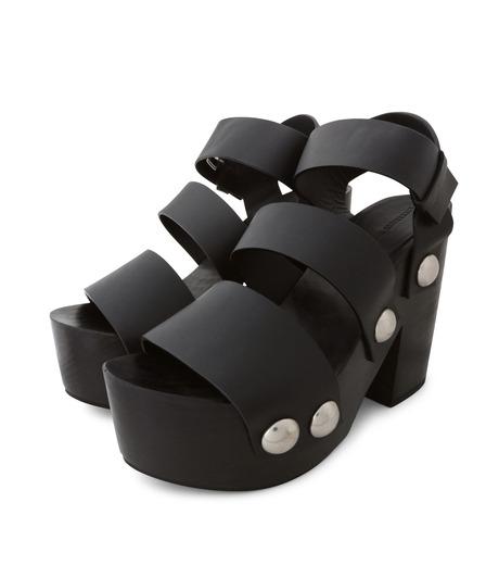 Alexander Wang(アレキサンダーワン)のTess Wooden Platform Sandal-BLACK(シューズ/shoes)-304132P16-13 詳細画像3