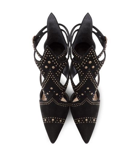 Paul Andrew(ポールアンドリュー)のpanel suede sandal w/studs-BLACK(シューズ/shoes)-314910-13 詳細画像4