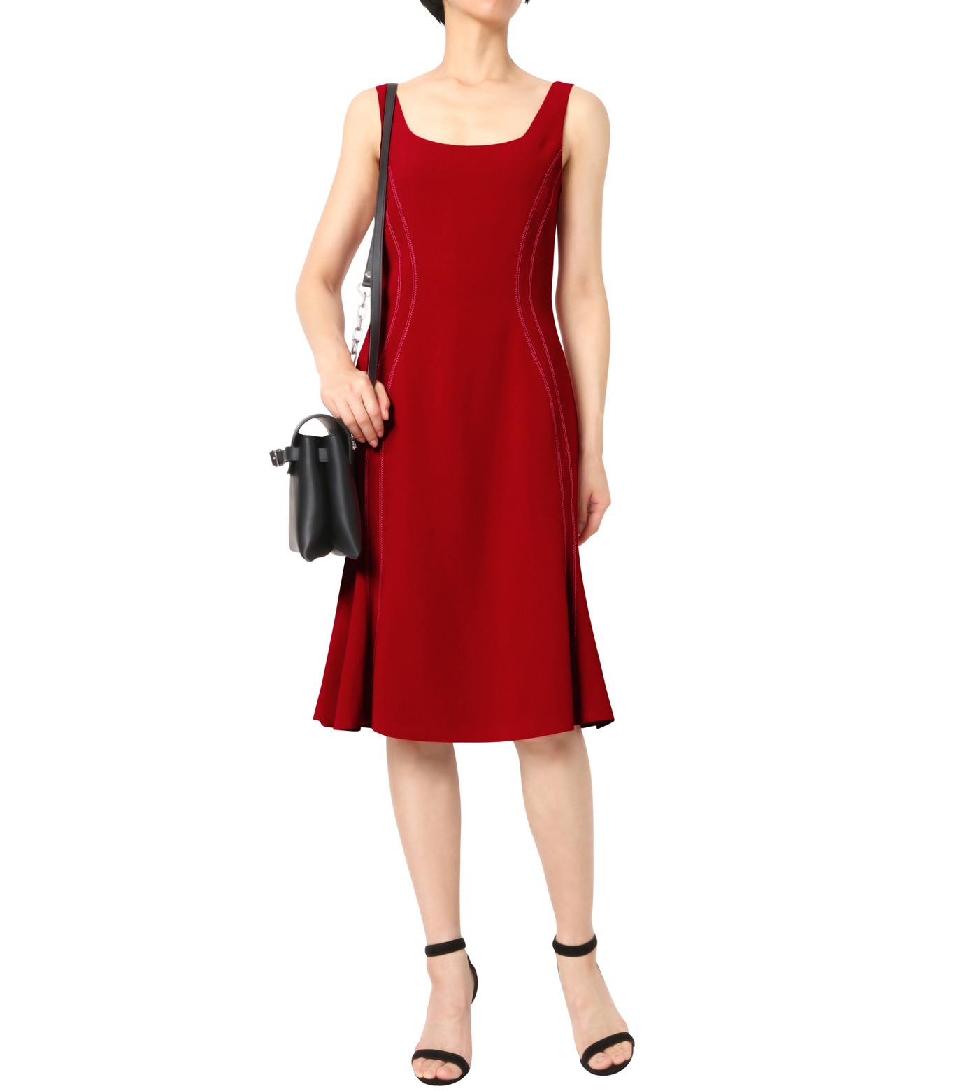 Altuzarra(アルトゥザラ)のStitched Detail Dress-RED(ワンピース/one piece)-316-317-89-62 拡大詳細画像1