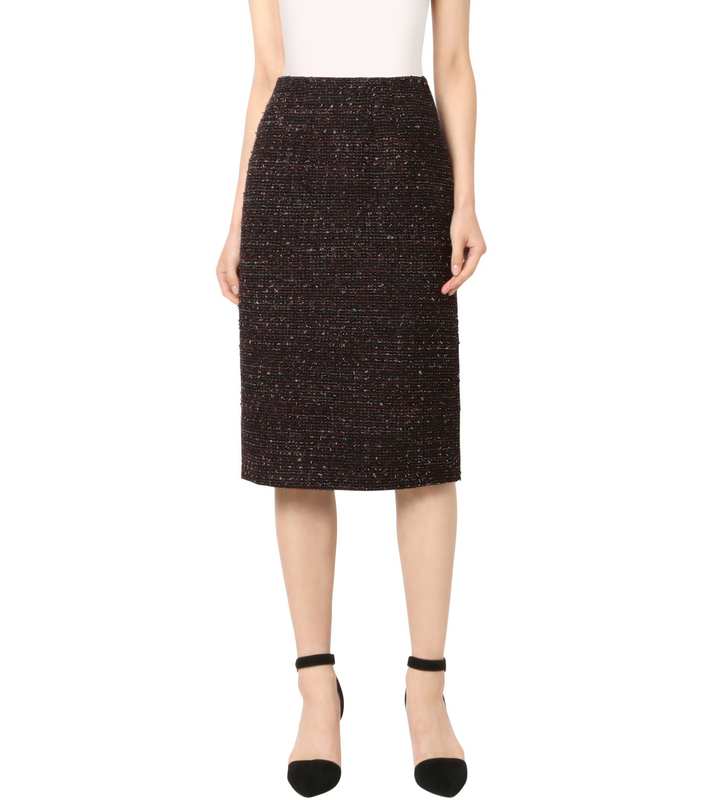 Altuzarra(アルトゥザラ)のTweed Pencil Skirt-BLACK(スカート/skirt)-316-501-465-13 拡大詳細画像1