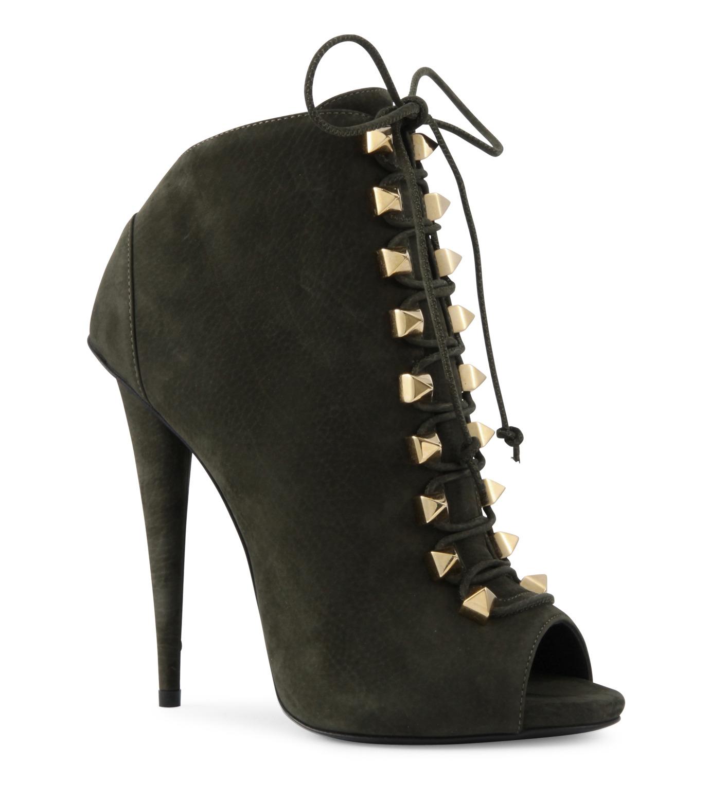 Giuseppe Zanotti Design(ジュゼッペザノッティ)のLace Up Bootie-KHAKI(ブーツ/boots)-32-7032AP115-24 拡大詳細画像1