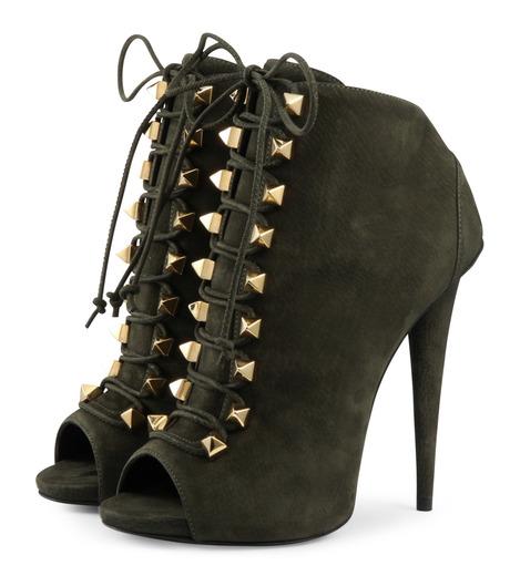 Giuseppe Zanotti Design(ジュゼッペザノッティ)のLace Up Bootie-KHAKI(ブーツ/boots)-32-7032AP115-24 詳細画像3