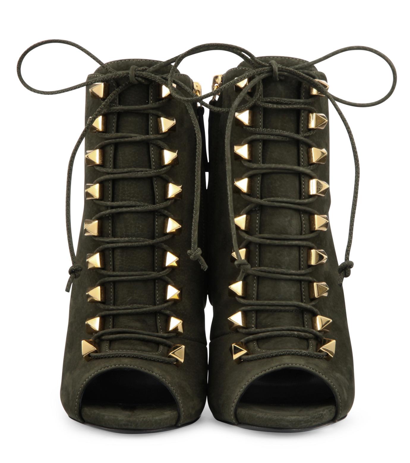 Giuseppe Zanotti Design(ジュゼッペザノッティ)のLace Up Bootie-KHAKI(ブーツ/boots)-32-7032AP115-24 拡大詳細画像4