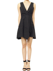 Proenza Schouler Cross Back Dress W Asym Hem