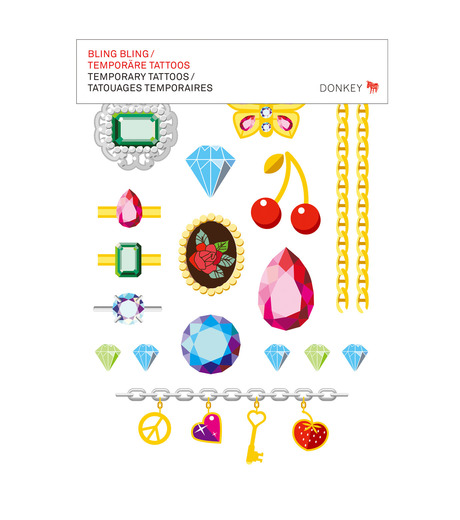 Donkey Products(ドンキー・プロダクツ)のTemporary Tattoos -Bling Bling--MULTI COLOUR(アザーズ/others)-330505-9 詳細画像1