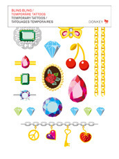 Donkey Products Temporary Tattoos -Bling Bling-