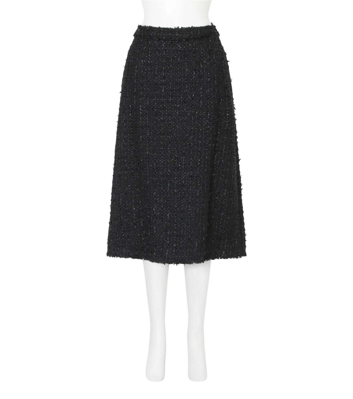 Simone Rocha(シモーネロシャ)のFine Tweed Skirt-BLACK(スカート/skirt)-3359-13 拡大詳細画像1