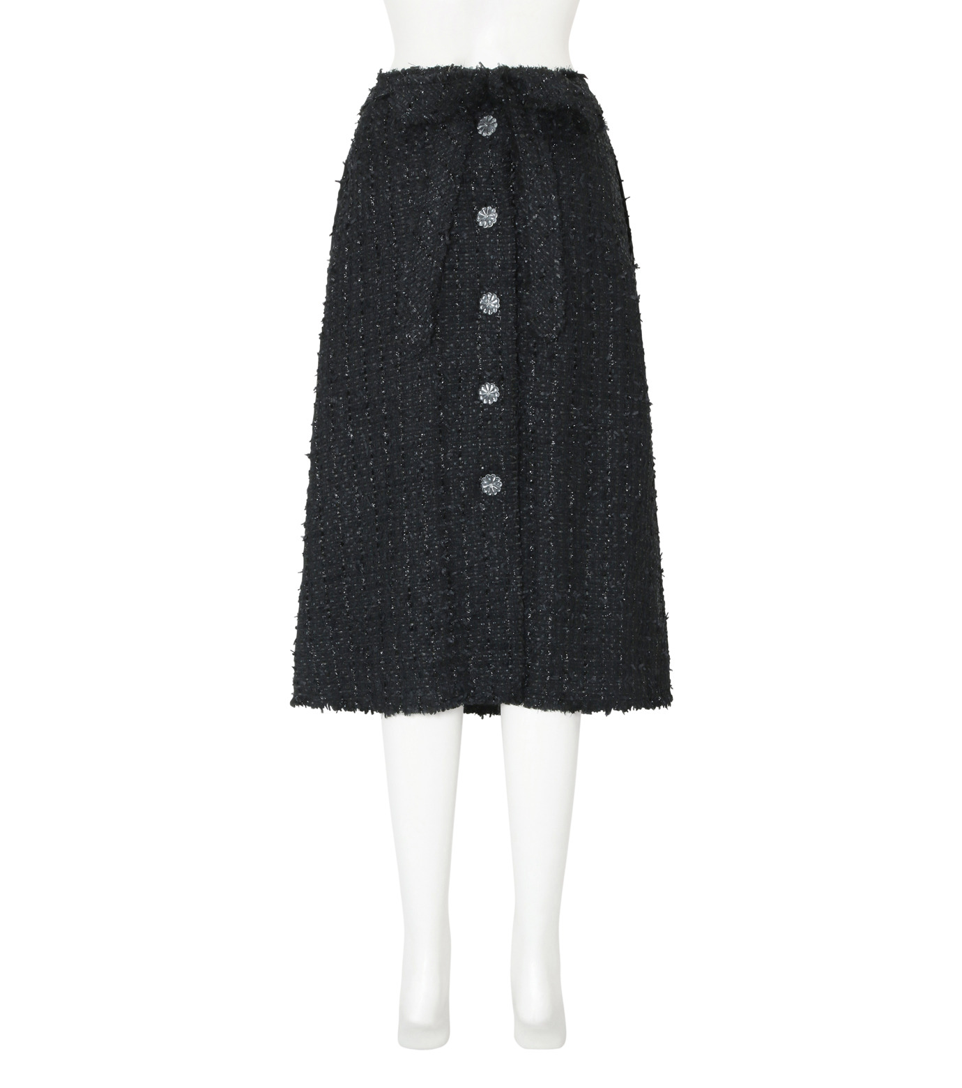 Simone Rocha(シモーネロシャ)のFine Tweed Skirt-BLACK(スカート/skirt)-3359-13 拡大詳細画像2
