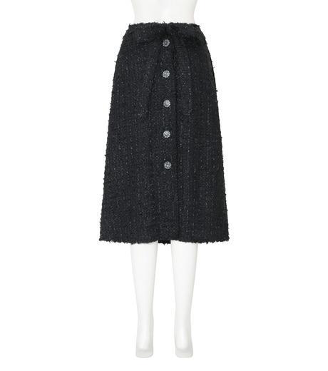 Simone Rocha(シモーネロシャ)のFine Tweed Skirt-BLACK(スカート/skirt)-3359-13 詳細画像2