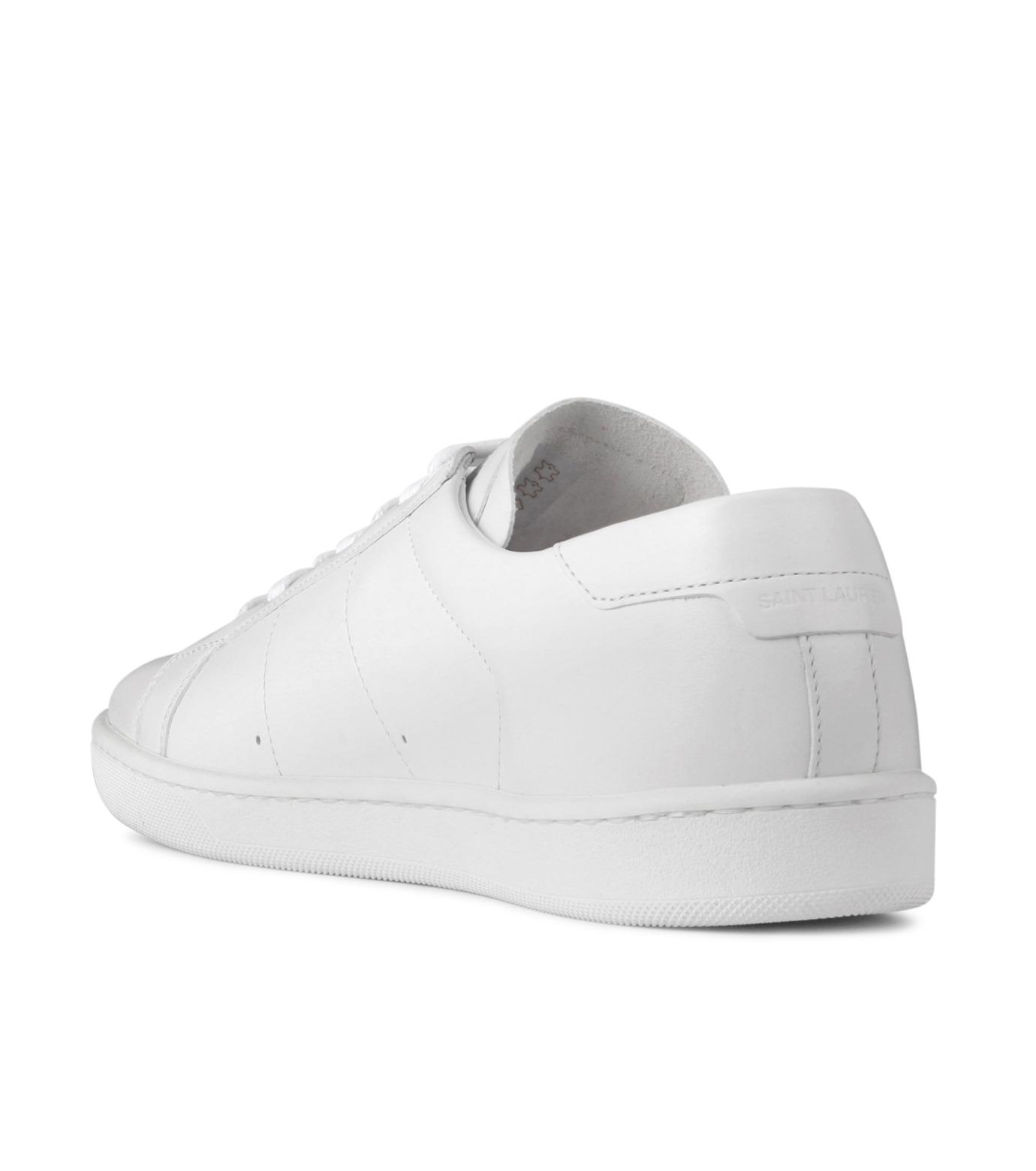 SAINT LAURENT(サンローラン)のLow Top Sneaker-WHITE-336250-AQI00-4 拡大詳細画像2