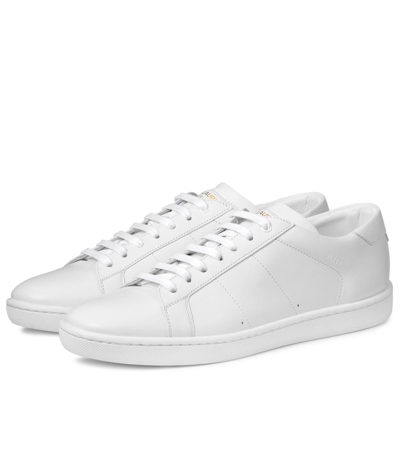 SAINT LAURENT(サンローラン)のLow Top Sneaker-WHITE-336250-AQI00-4 拡大詳細画像3