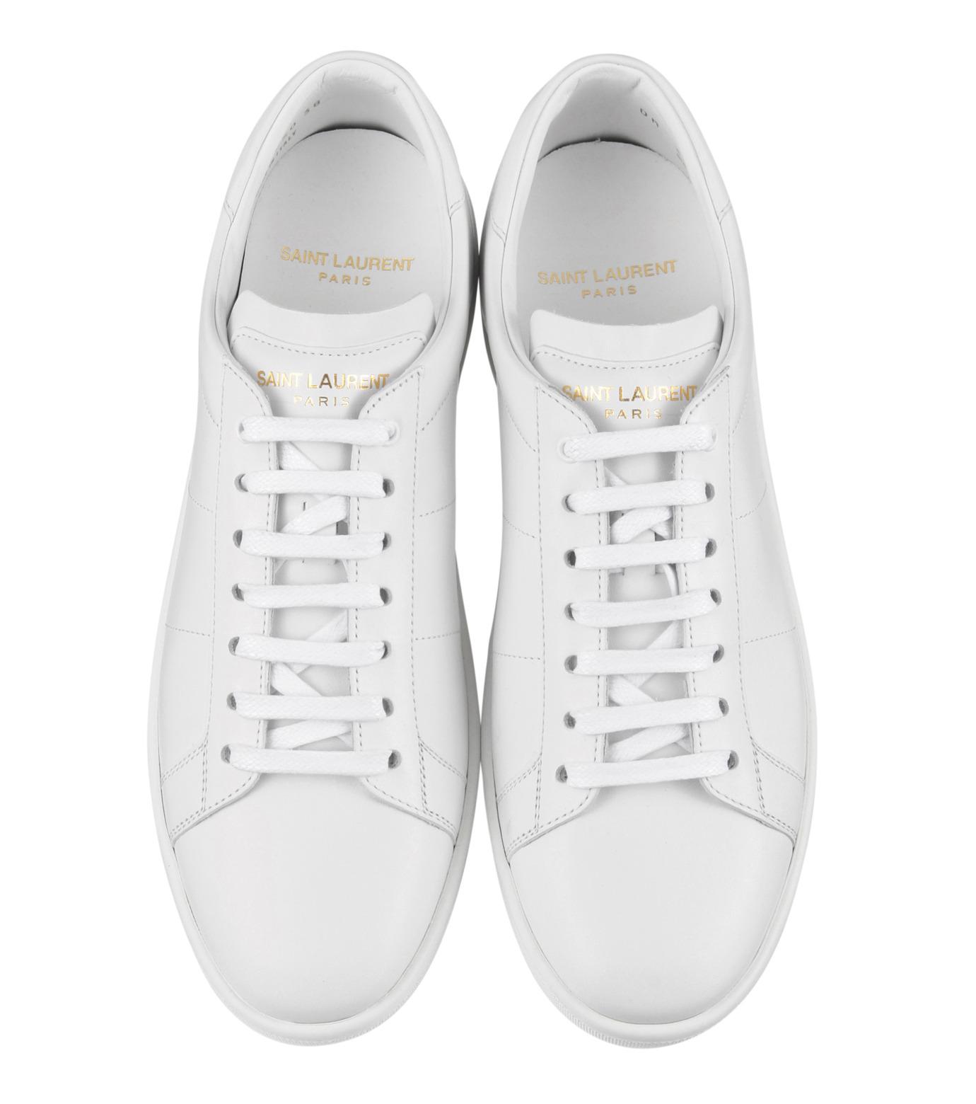 SAINT LAURENT(サンローラン)のLow Top Sneaker-WHITE-336250-AQI00-4 拡大詳細画像4
