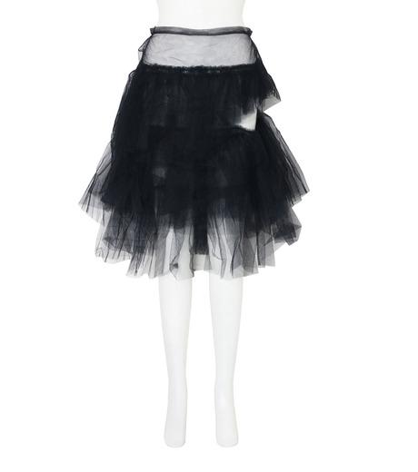 Simone Rocha(シモーネロシャ)のNet Tulle Full Skirt-BLACK(スカート/skirt)-3366-13 詳細画像1