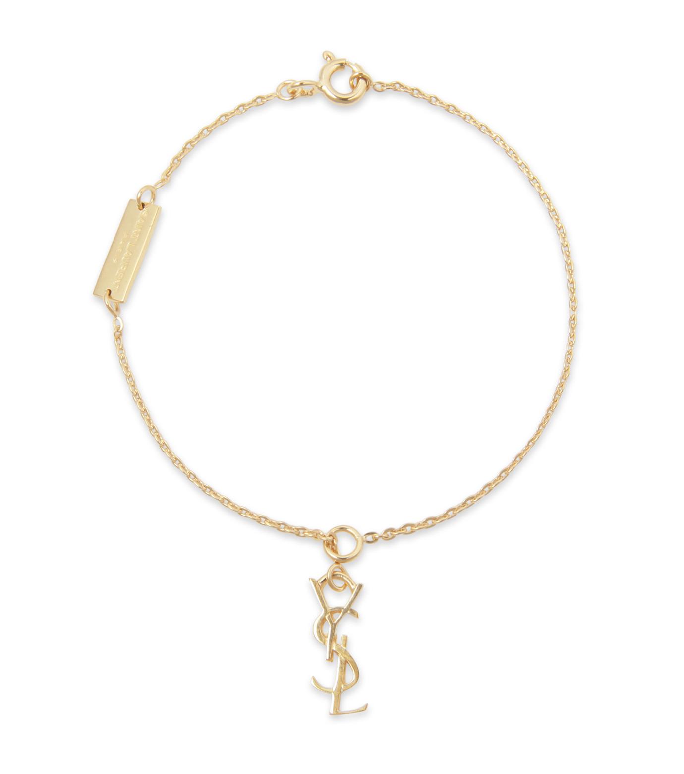SAINT LAURENT(サンローラン)のMonogramme Bracelet-GOLD(ブレスレット/bracelet)-342825-Y1100-2 拡大詳細画像1