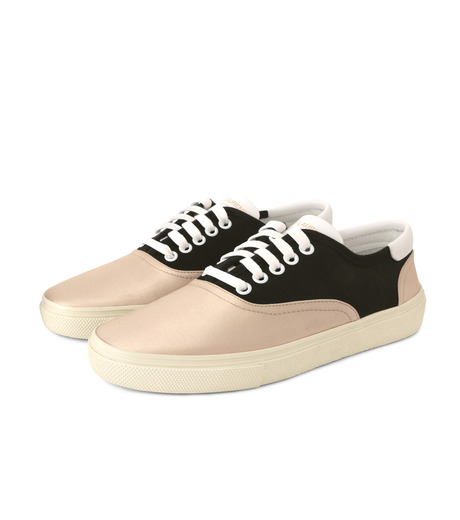 SAINT LAURENT(サンローラン)のSkate Sneaker Lace Up Satin-BEIGE(スニーカー/sneaker)-345062-F1430-52 詳細画像3