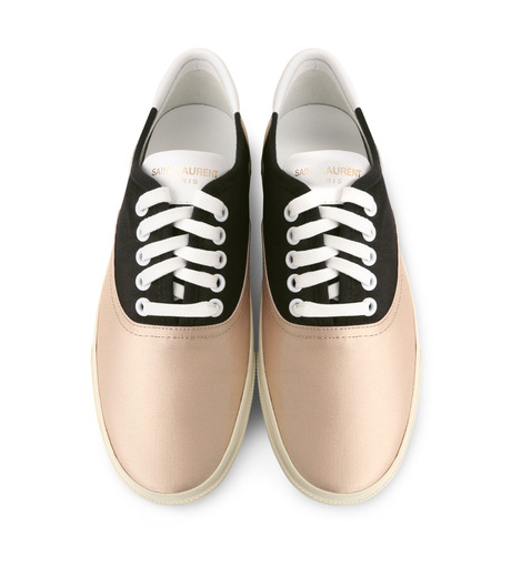 SAINT LAURENT(サンローラン)のSkate Sneaker Lace Up Satin-BEIGE(スニーカー/sneaker)-345062-F1430-52 詳細画像4