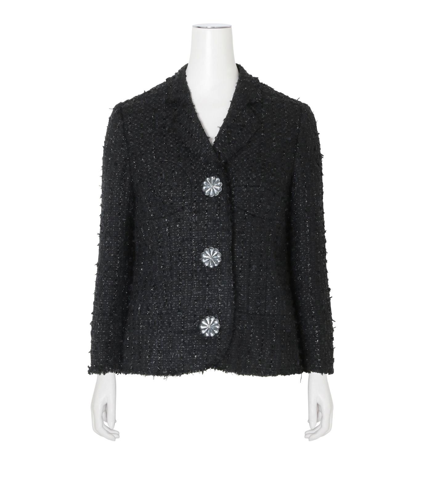 Simone Rocha(シモーネロシャ)のFine Tweed Fitted Jacket-BLACK(ジャケット/jacket)-3667-13 拡大詳細画像1