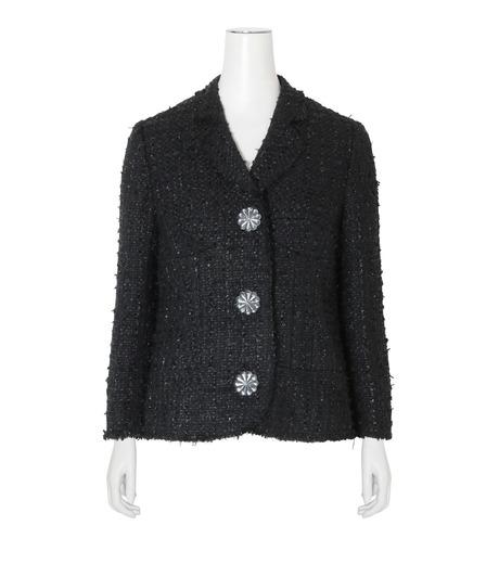Simone Rocha(シモーネロシャ)のFine Tweed Fitted Jacket-BLACK(ジャケット/jacket)-3667-13 詳細画像1