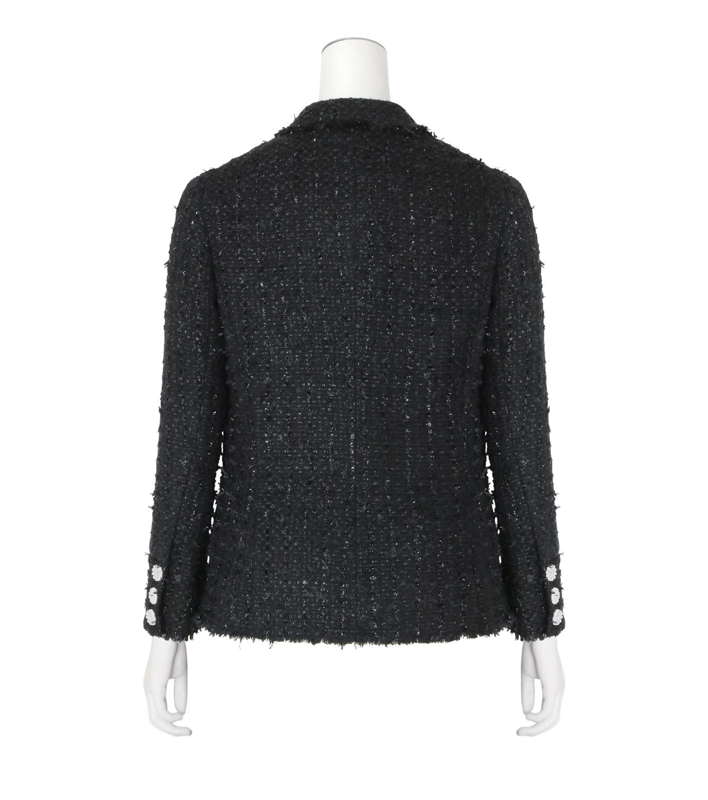 Simone Rocha(シモーネロシャ)のFine Tweed Fitted Jacket-BLACK(ジャケット/jacket)-3667-13 拡大詳細画像2
