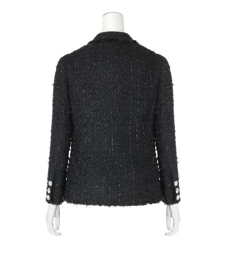 Simone Rocha(シモーネロシャ)のFine Tweed Fitted Jacket-BLACK(ジャケット/jacket)-3667-13 詳細画像2