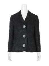 Simone Rocha Fine Tweed Fitted Jacket
