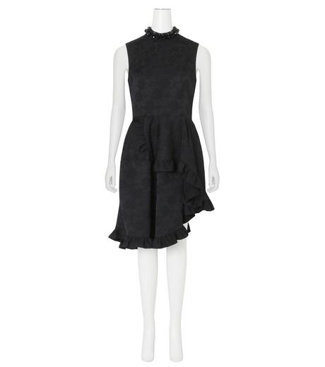Simone Rocha(シモーネロシャ)のCotton Brocade Dress w/Beads-BLACK(ワンピース/one piece)-3749B-13 詳細画像1