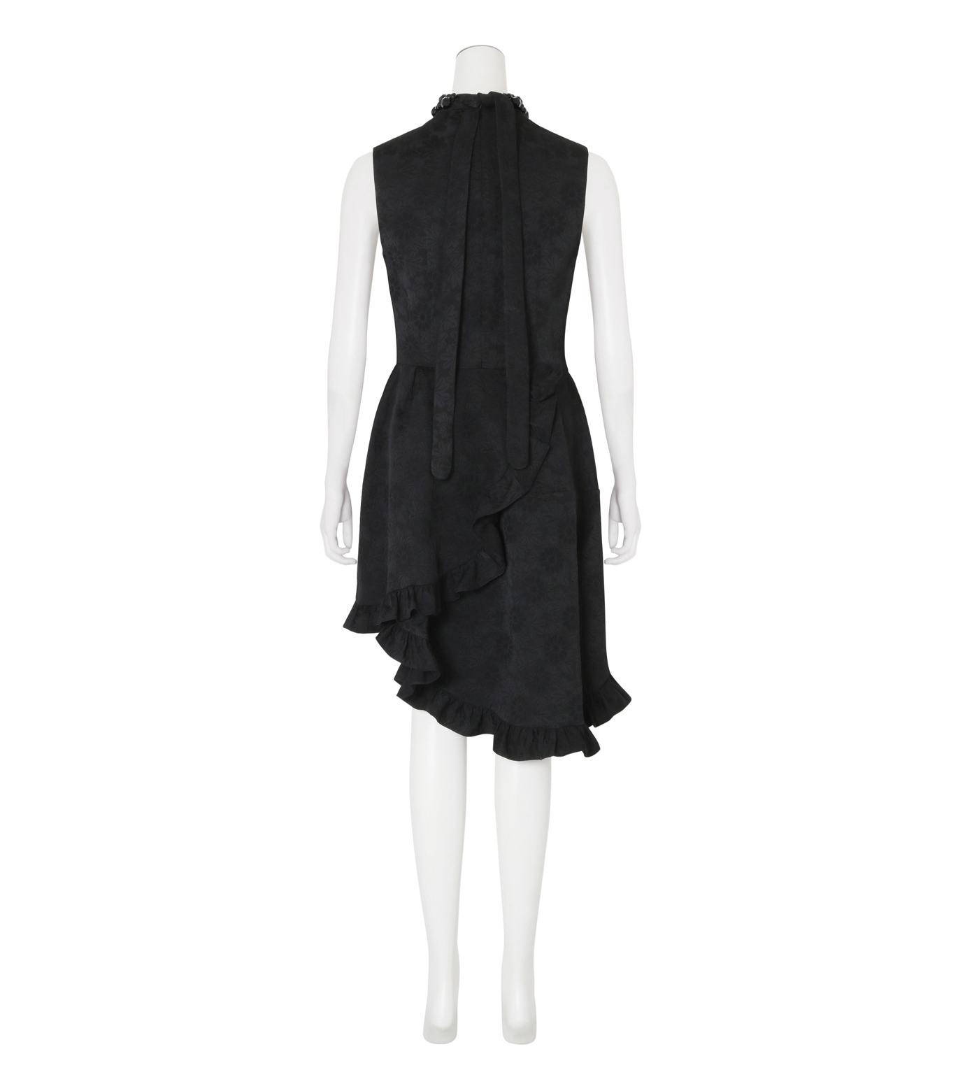Simone Rocha(シモーネロシャ)のCotton Brocade Dress w/Beads-BLACK(ワンピース/one piece)-3749B-13 拡大詳細画像2