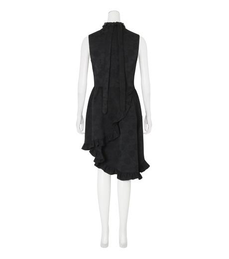 Simone Rocha(シモーネロシャ)のCotton Brocade Dress w/Beads-BLACK(ワンピース/one piece)-3749B-13 詳細画像2