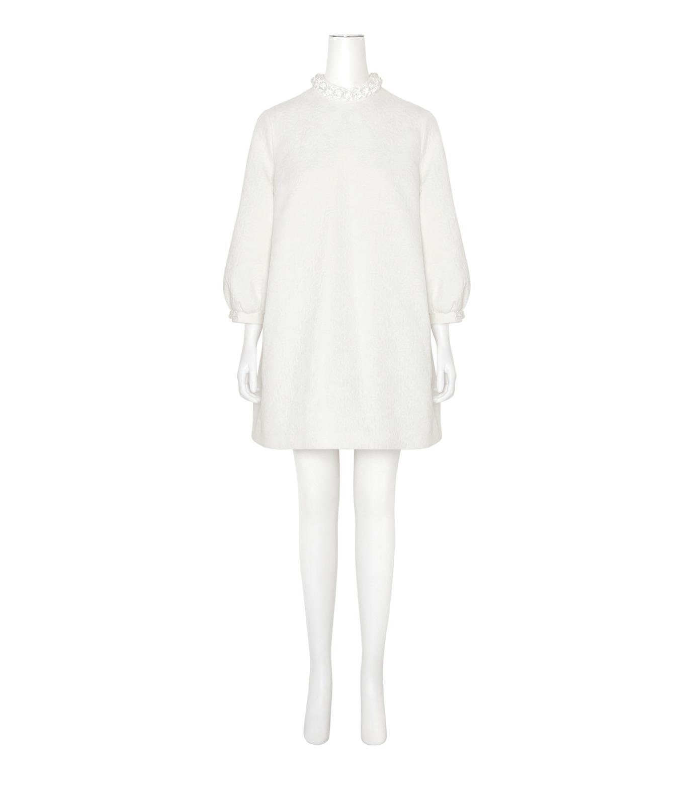 Simone Rocha(シモーネロシャ)のCotton Brocade Tunic Dress w/Beads-WHITE(ワンピース/one piece)-3750B-5 拡大詳細画像1