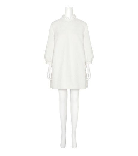 Simone Rocha(シモーネロシャ)のCotton Brocade Tunic Dress w/Beads-WHITE(ワンピース/one piece)-3750B-5 詳細画像1