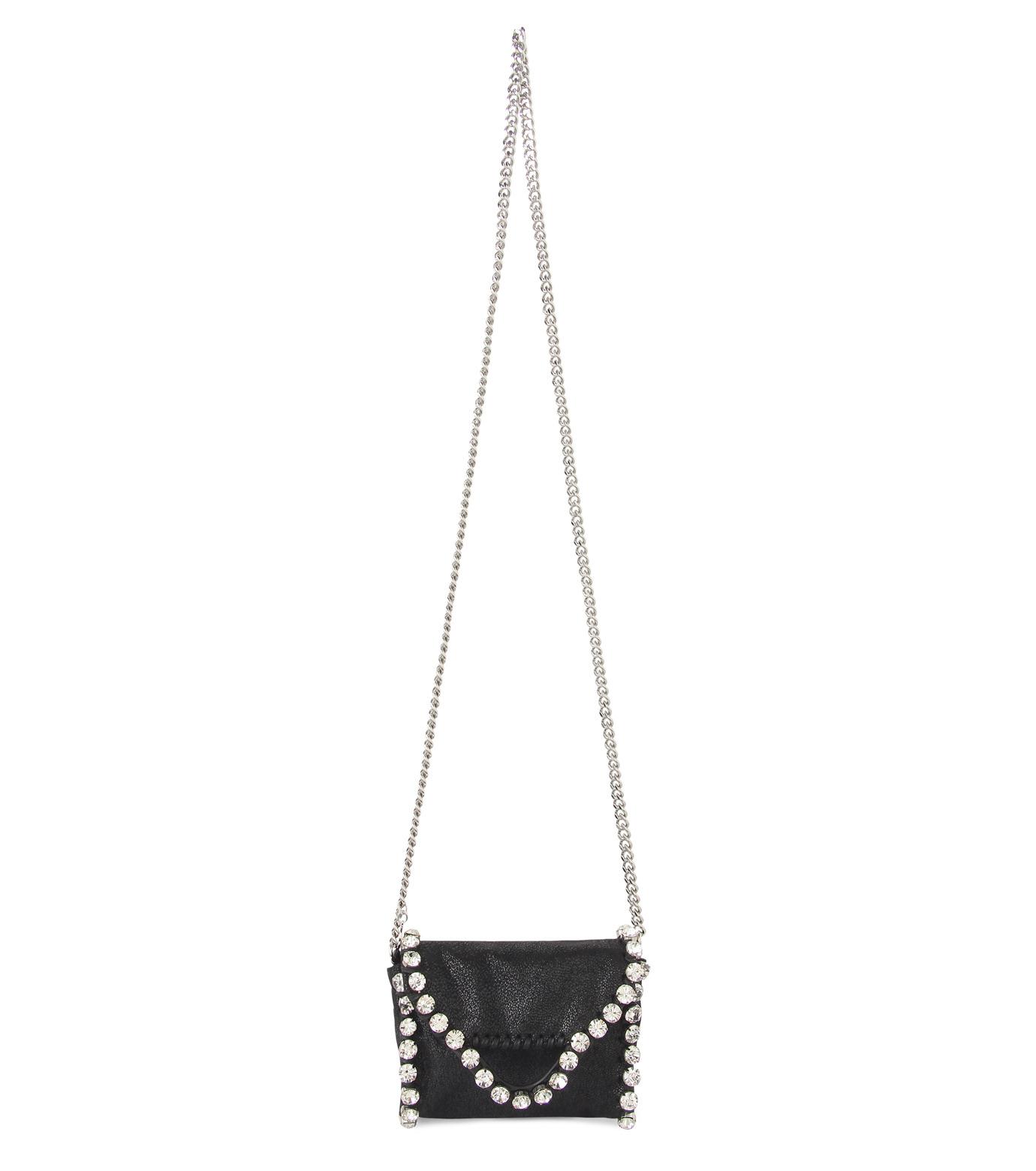 Stella McCartney(ステラマッカートニー)のTiny Fold Over Cross-Body-BLACK(バッグ/ショルダーバッグ/bag/shoulder bag)-391697-W9746-13 拡大詳細画像1