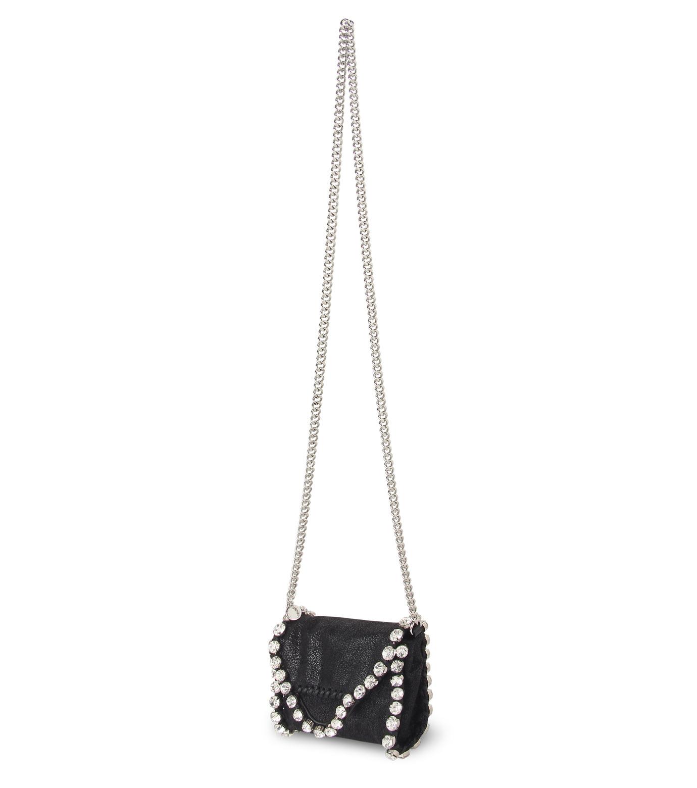 Stella McCartney(ステラマッカートニー)のTiny Fold Over Cross-Body-BLACK(バッグ/ショルダーバッグ/bag/shoulder bag)-391697-W9746-13 拡大詳細画像2