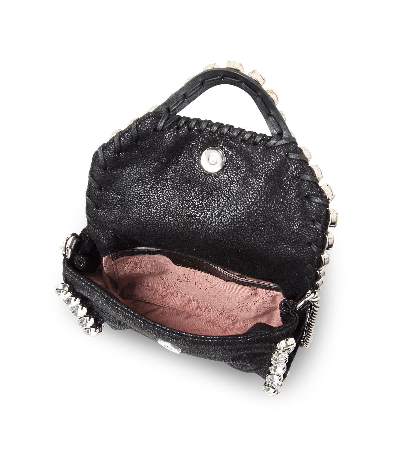 Stella McCartney(ステラマッカートニー)のTiny Fold Over Cross-Body-BLACK(バッグ/ショルダーバッグ/bag/shoulder bag)-391697-W9746-13 拡大詳細画像4